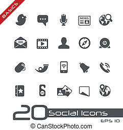 Social Icons // Basics - Vector icons for your web or...