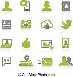 Social Icons. Natura