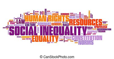 Social inequality concept