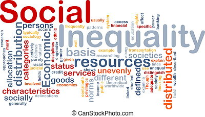 Social inequality wordcloud concept illustration