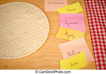 social, ingredientes, pizza