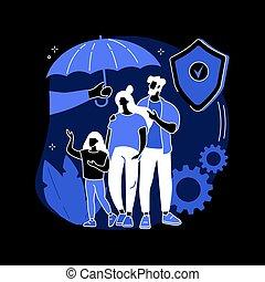 Social insurance abstract concept vector illustration.