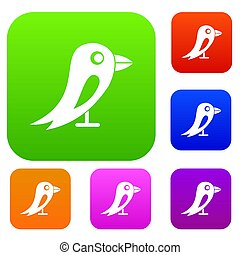 social, jogo, pássaro, cobrança, rede