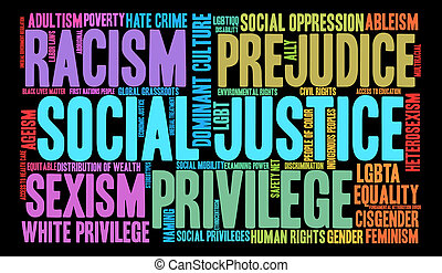 Social Justice Word Cloud - Social Justice word cloud on a...
