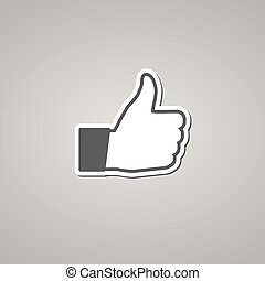 Social Like Icon on the white background.