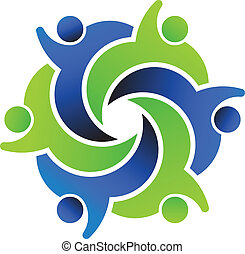 social, logotipo, amigos, diseño, 6