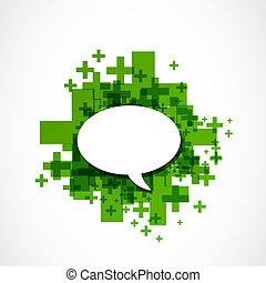 social, média, bulle discours