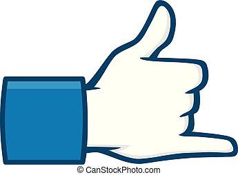 social, média, lâche, pendre, icône