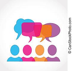 social, média, réseau, parole, bulles
