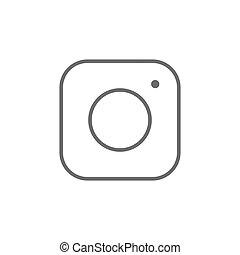 social, média, vecteur, icône