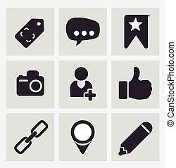 social, média, vecteur, illustration., conception