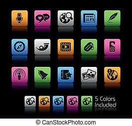 social, mídia, /, colorbox