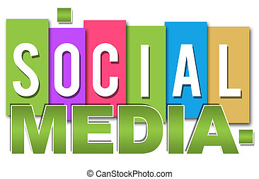 social, mídia, colorido, profissional