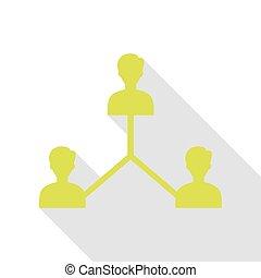 social, mídia, marketing, sinal., pêra, ícone, com, apartamento, estilo, sombra, path.
