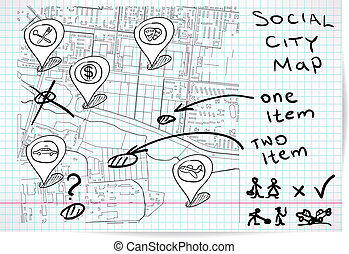 Social map of sketch