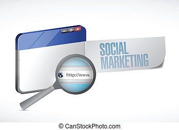 social marketing browser illustration design
