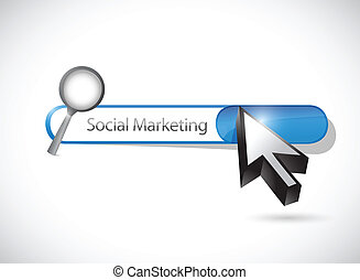 social marketing search bar illustration design