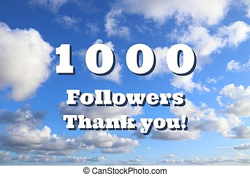 Social media 1000 followers