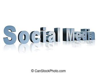 Social Media 3D text - XXXL