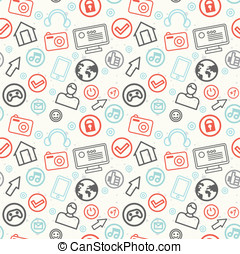 social media and internet seamless pattern