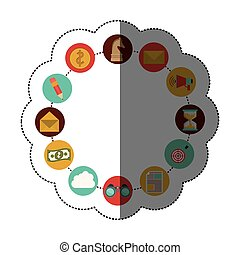 Social media and multimedia icon set