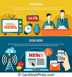 Social Media And News Release Horizontal Banners - Social...
