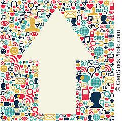 Social media arrow texture