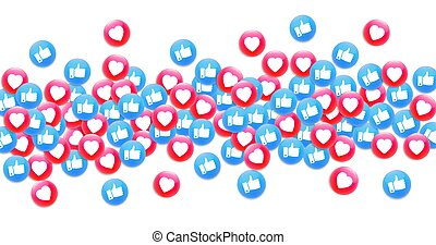 Social media background. Premium vector illustration. - ...