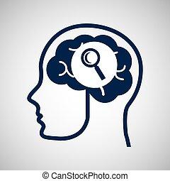 social, media, begrepp, huvud och, hjärna, media, leta