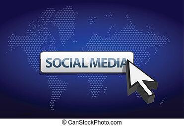 social media blue background