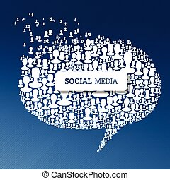 Social Media Bubble Speech Concept. Vector