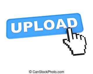 "Social Media Button ""Upload"" on White Background"