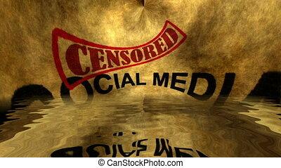Social media censored grunge concept