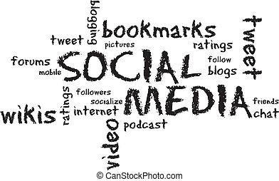Social Media Chalk Drawing