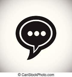 Social media chat icon on white background