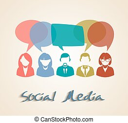Social media chat people group