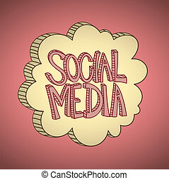 Vector illustration of a social media cloud