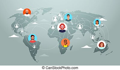 Flat earth society clipart vector and illustration 89 flat earth social media communication world map concept internet gumiabroncs Choice Image