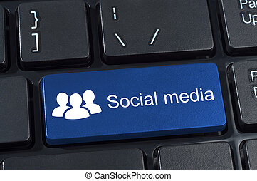 Social media computer button.