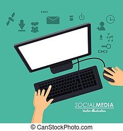 social media computer working