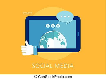 social media concept flat icon