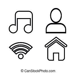 social media concept flat icons
