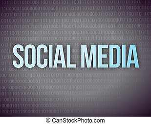 Social media concept in a black