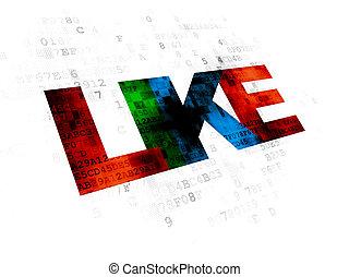 Social media concept: Like on Digital background
