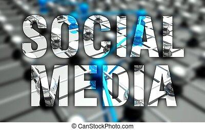 Social media concept, network background