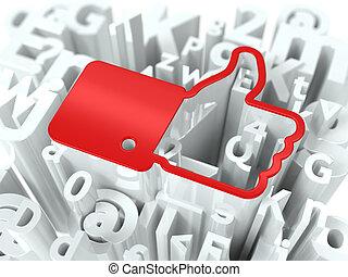 Social Media Concept on Alphabet Background.