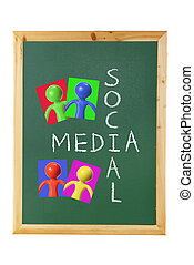 Social Media Concept on Blackboard