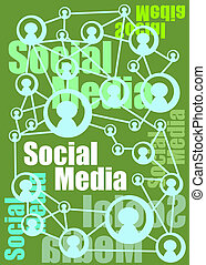 Social media concept - Social Media illustration and concept...