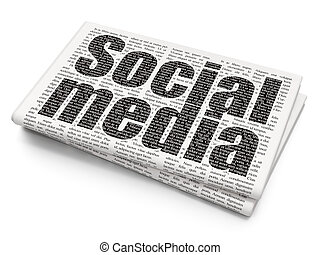 Social media concept: Social Media on Newspaper background