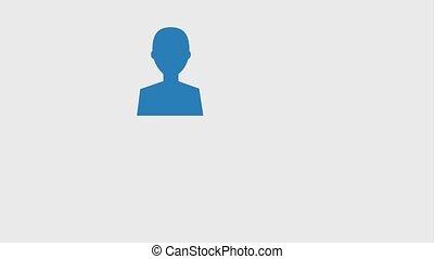 social media concept - social media people avatars female...